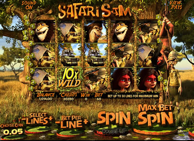 Safari Sam 3D Slots