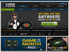 Carbon poker home page