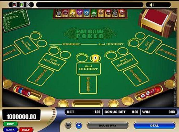 free pai gow poker with bonus
