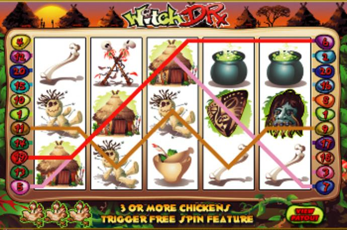 Witch doctor gambling