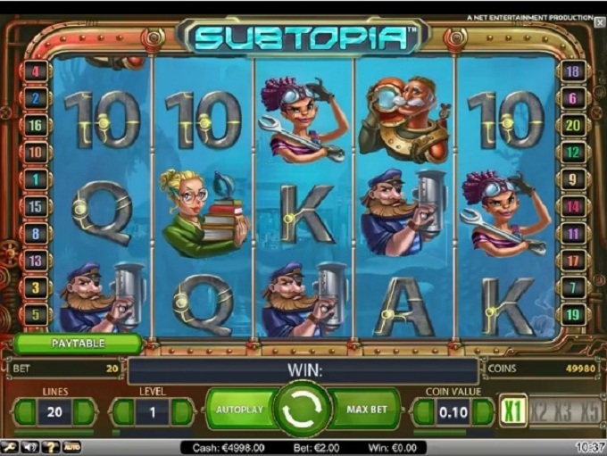 Subtopia - Play Free Online Video Slot