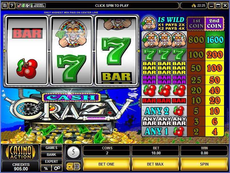 online casino cash crazy slots