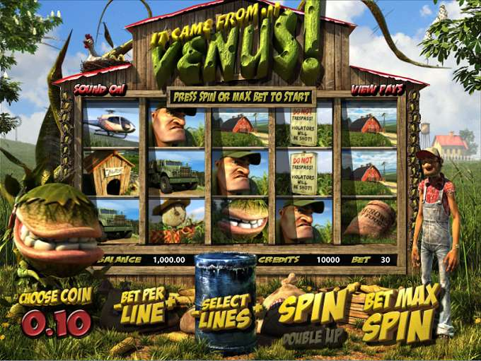 It Came From Venus Slots - Free Venus Fly Trap Slot Machine in 3D