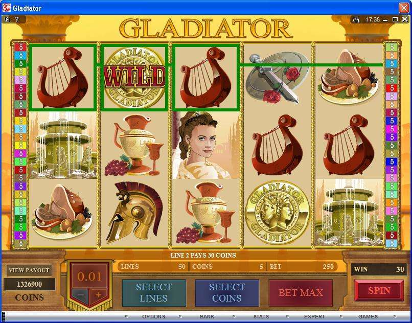 Gladiator Slots - Play this Game by Pro Wager Systems Online