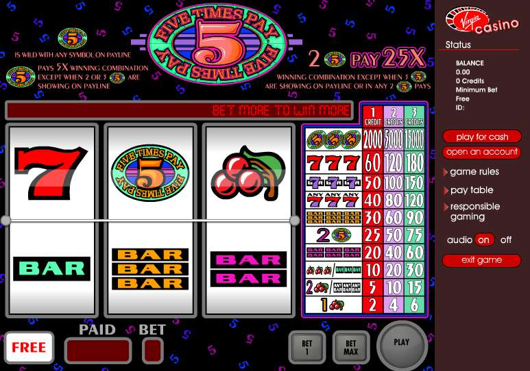 Free online 5 times slots