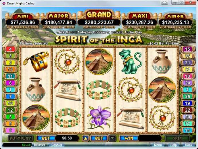Spirit of the Inca Slots Review & Free Instant Play Game