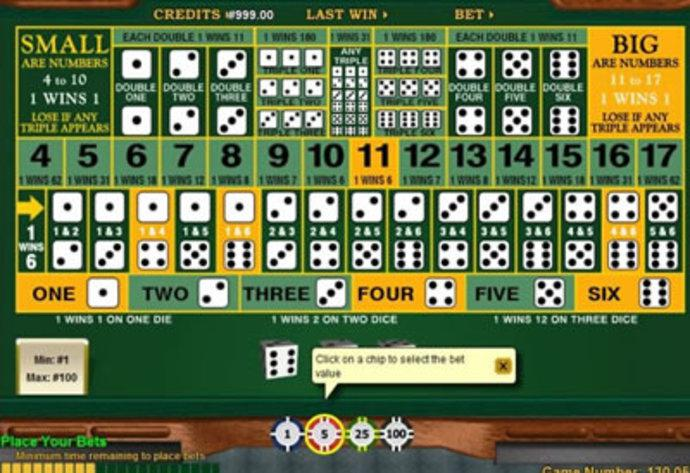 Play Sic Bo Table Game Online at Casino.com Canada